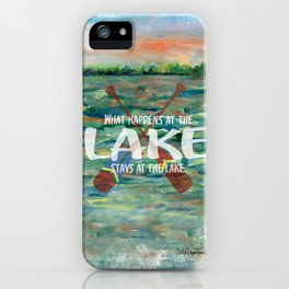What happens at the LAKE iPhone Case