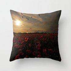 Field of memories  Throw Pillow