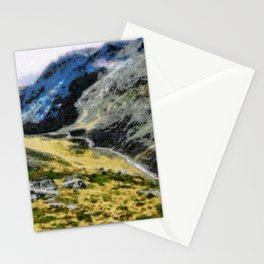 The top of Ben Nevis, Scotland, is shaded by clouds. Stationery Cards