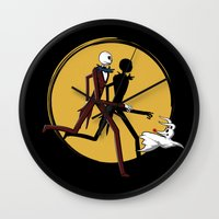 tintin Wall Clocks featuring Jack and zero by le.duc