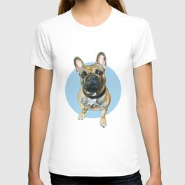 French Bulldog blue spot. T-shirt