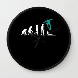 Skater Skateboard Skateboarder Evolution Wall Clock