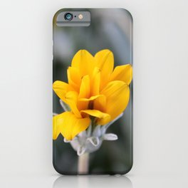 Yellow Flower Close-Up Photo iPhone Case