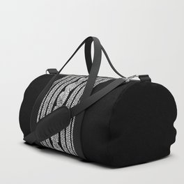 Cable Stripe Black Duffle Bag