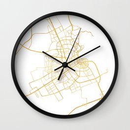 DOHA QATAR CITY STREET MAP ART Wall Clock