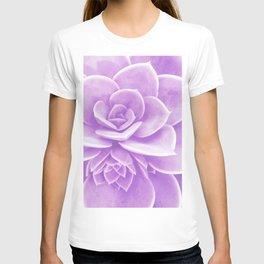 Purple Succulent Reflection T-shirt
