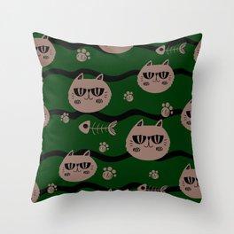 Cuty cats Throw Pillow