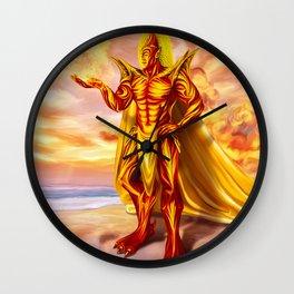 Dwain God of fire Wall Clock