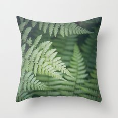 Where the Redwood Fern Grows Throw Pillow