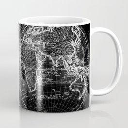 Black and White World Map (1795) Inverse Coffee Mug