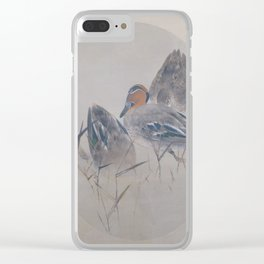 Seitei - Album of Flowers and Birds (1906): Teals with Reeds Clear iPhone Case