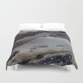 Rock Pool Amongst Mussel Beds Duvet Cover