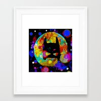 bat Framed Art Prints featuring BAT by Saundra Myles