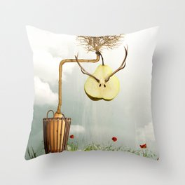 Deer Pear Throw Pillow