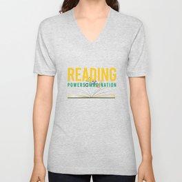 Reading power imagination Unisex V-Neck