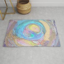 Abstract Mandala Multi-coloured Design Rug