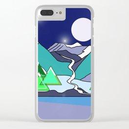 Wanderlust 3 Clear iPhone Case