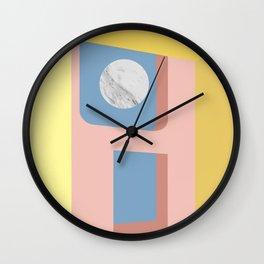 Marble Moon Wall Clock
