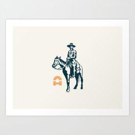 Texan Art Print