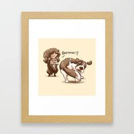 Beethoven!? Framed Art Print