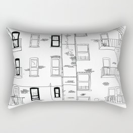 Building Front Rectangular Pillow