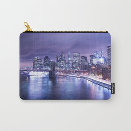 New York City Night Lights : Periwinkle Blue Carry-All Pouch