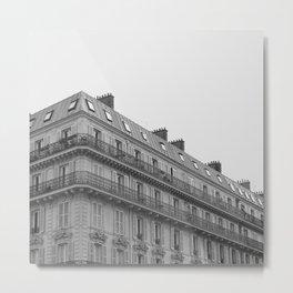 Paris Architecture Black & White Metal Print