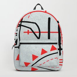 IHS religious Jesuit symbol Backpack