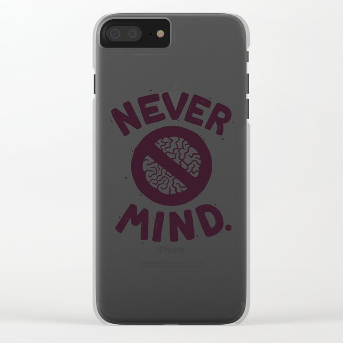 NEVER M/ND Clear iPhone Case