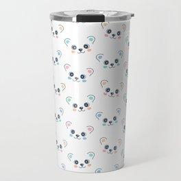 Cute Bear Cub Face Travel Mug