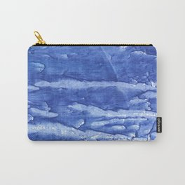 Steel blue vague watercolor painting Carry-All Pouch