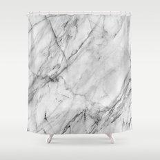 Carrara Marble Shower Curtain