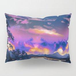 Night Sky Sunset Pillow Sham