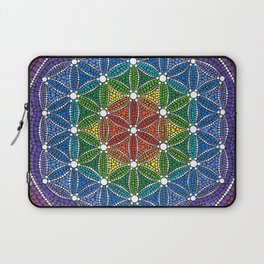 Rainbow Happy Flower of Life Laptop Sleeve