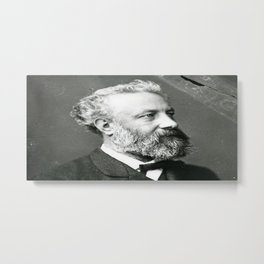 portrait of Jules Verne by Nadar Metal Print
