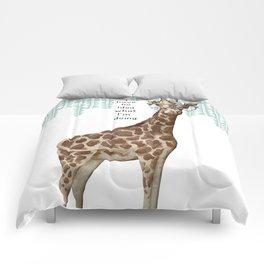 Snarky Giraffe Comforters