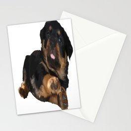 Cute Rottweiler Puppy Vector Stationery Cards