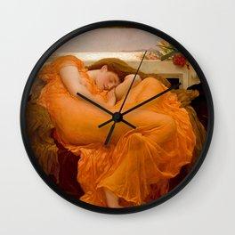 "Frederic Leighton ""Flaming June"" Wall Clock"