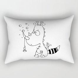Le rhinodino Rectangular Pillow