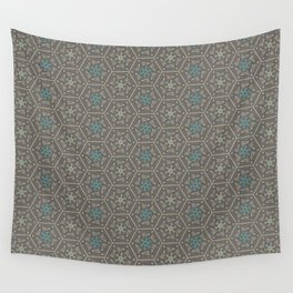 Going round and round - Orange/Taupe/Teal Wall Tapestry