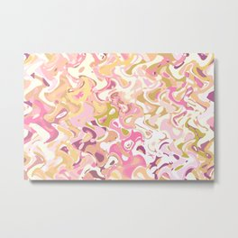 Little princess pink world, abstract pinkish shapes Metal Print