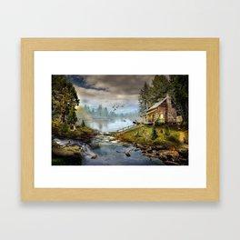 Wildlife Landscape Framed Art Print