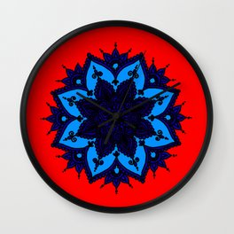 Kids Mandala Orange Wall Clock
