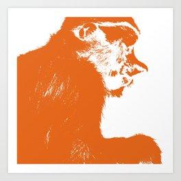 Juvenile proboscis monkey [Umber] Art Print