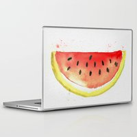 watermelon Laptop & iPad Skins featuring watermelon  by Soso Creation