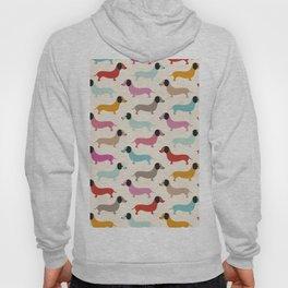Sweet retro dachshund doxie puppy pattern Hoody