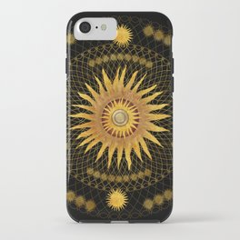 """Black & Gold Vault Mandala"" iPhone Case"