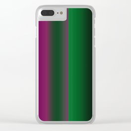 Emerald Green Ultra Violet stripes Clear iPhone Case