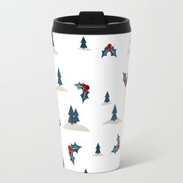 Digital seamless pattern with winter landscape Travel Mug