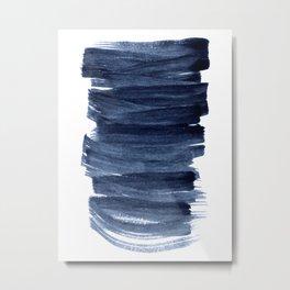 Just Indigo 3 | Minimalist Watercolor Abstract Metal Print